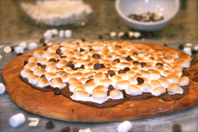 Max Brenner's Chocolate Pizza | Sweet And Crumby