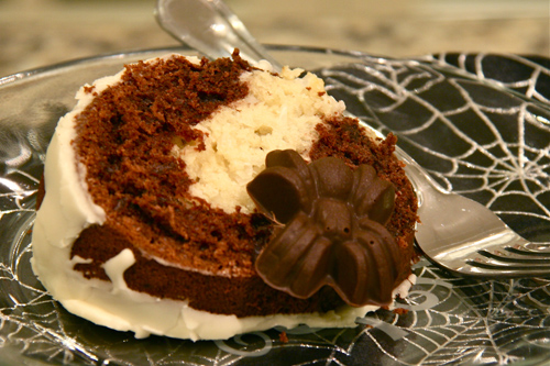 Chocolate Coconut Tunnel Cake