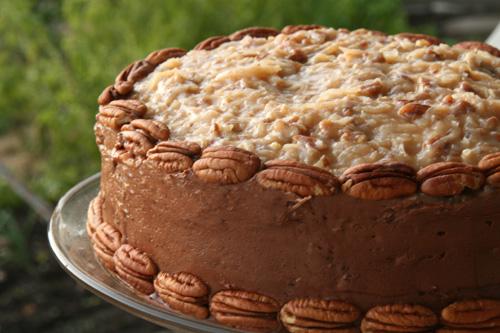 Layered Pecan Cake