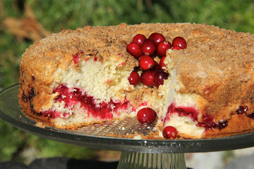 Cranberry Swirl Coffee Cake With Orange Juice Powdered Sugar Glaz