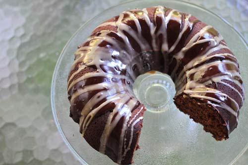 Chocolate Kahlua Bundt Cake Glaze