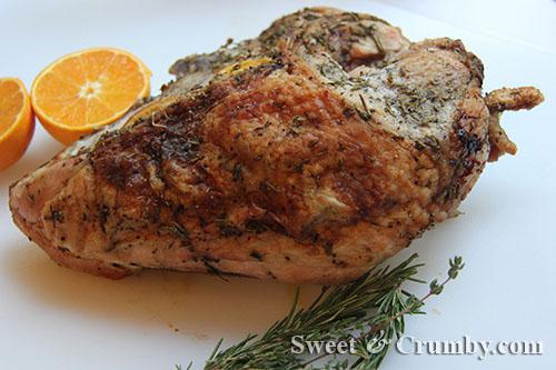 how to roast a turkey breast {technically half a turkey breast