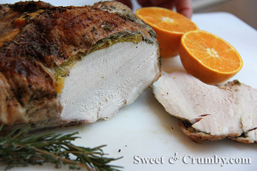 how to roast a turkey breast {technically half a turkey breast