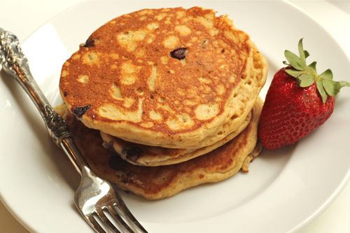 Chocolate Chip pancakes gf