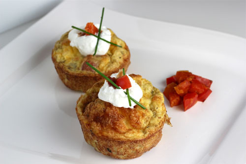 bacon and potato frittatas