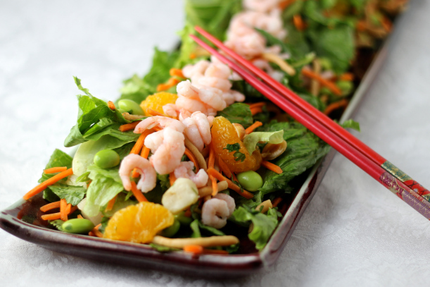 Asian Inspired Shrimp Salad